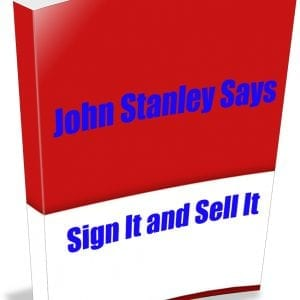 John Stanley Says Issue 2 Sign it and Sell it ecover